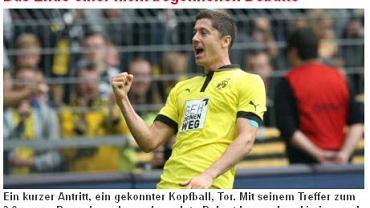 Robert Lewandowski na łamach serwisu 'Revier Sport'