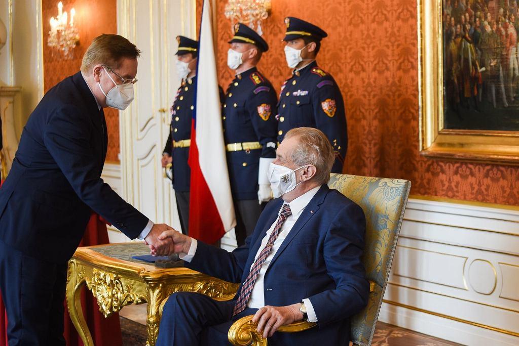 Milos Zeman i nowy minister zdrowia