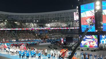 Ceremonia otwarcia Igrzysk Europejskich na stadionie Dynama Mińsk