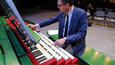 Prof. Jan Bokszczanin, członek jury I Międzynarodowego Konkursu Organowego organizowanego przez Operę i Filharmonię Podlaską w dniach 16-22 czerwca 2017