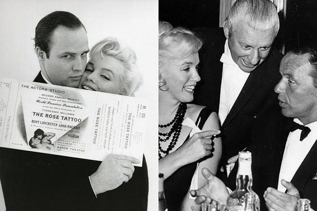 Marylin Monroe z 1. Marlonem Brando, 2. Franckiem Sinatrą