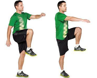 ćwiczenia, Ćwiczenia: rozgrzewka idealna, Unoś naprzemiennie prawą i lewą nogę