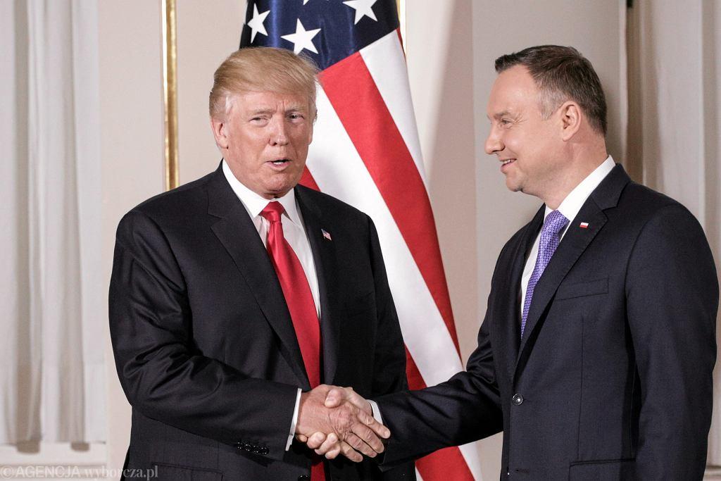 Spotkanie Donalda Trumpa z Andrzejem Dudą w Warszawie (2017)