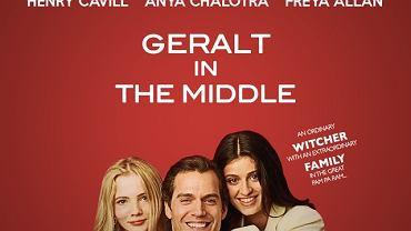 Henry Cavill, Anya Chalotra i Freya Allan jako rodzina z sitcomu (WIEDŹMIN MEMY)