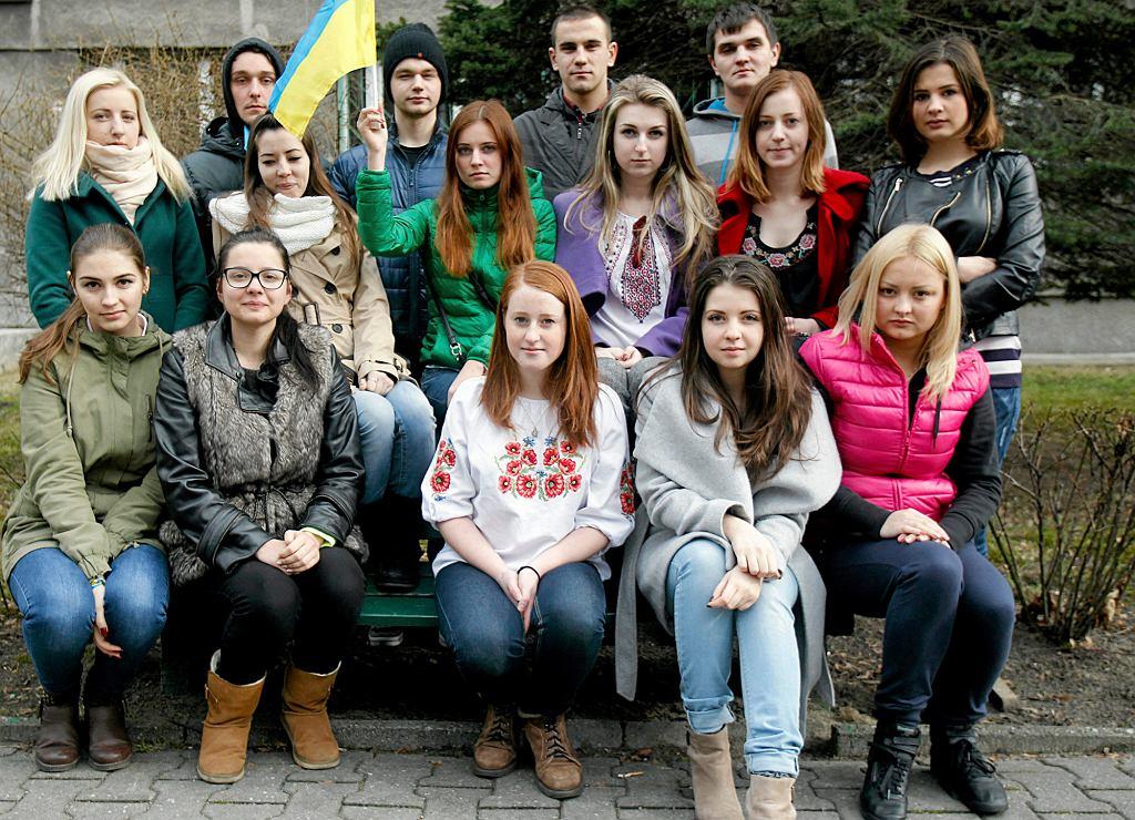 Katowice, 2014 r. Studenci z Ukrainy uczący się na Uniwersytecie Śląskim (fot . Dawid Chalimoniuk / Agencja Gazeta)