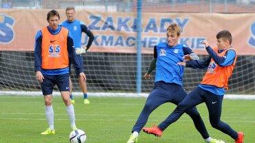 Lech Poznań trenuje przed meczem z Podbeskidziem Bielsko-Biała. Piotr Kurbiel i Krystian Sanocki