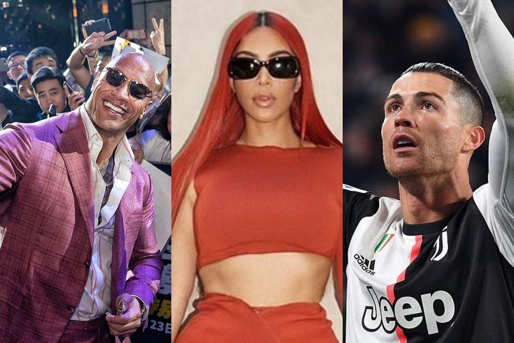 Ronaldo, Kim Kardashian, The Rock