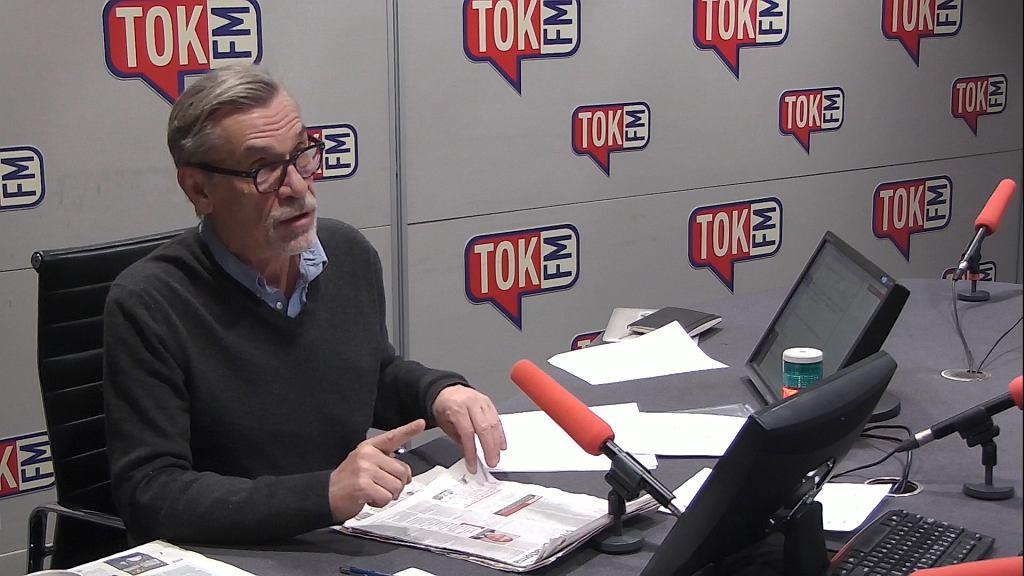 Jacek Żakowski w studiu Radia TOK FM.