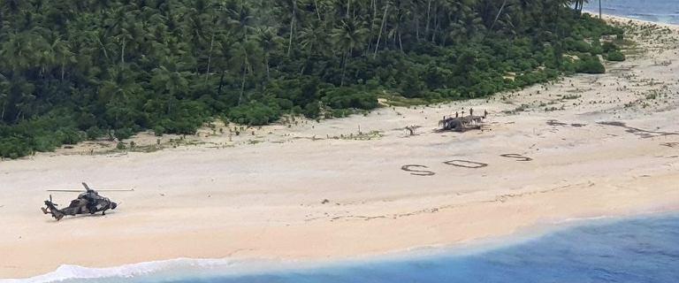 Australia. Mężczyźni uratowni z bezludnej wyspy. Stworzyli gigantyczny napis SOS