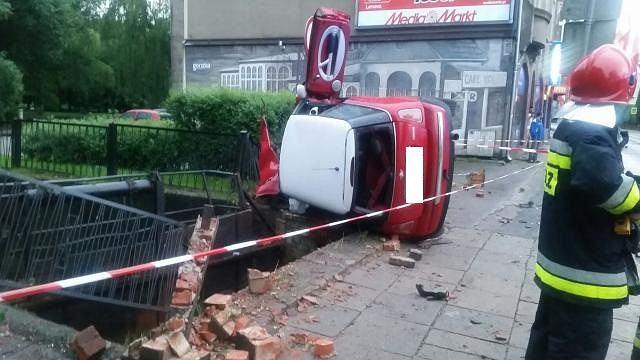 Wypadek na ul. Sikorskiego