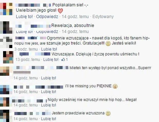 Fani wspierają Mietka Szcześniaka