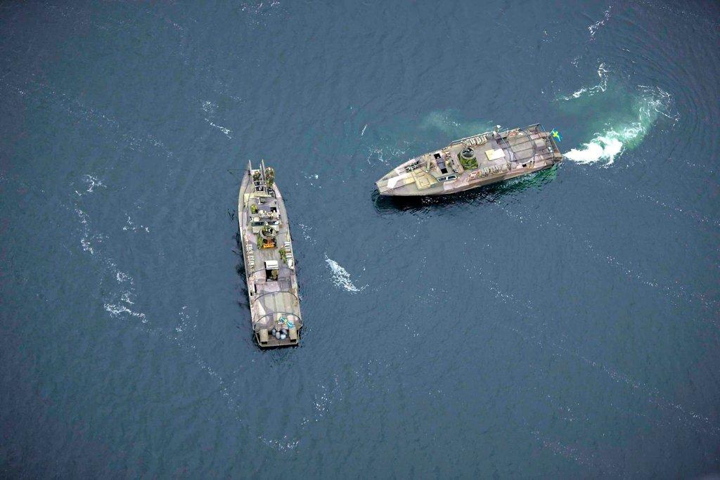 Szwedzkie okręty wojenne patrolują Archipelag Sztokholmski