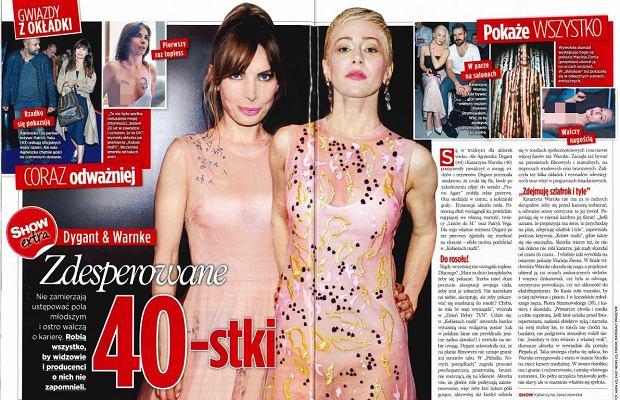 Artykuł 'Show', Agnieszka Dygant i Katarzyna Warnke