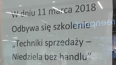 Pierwsza niehandlowa niedziela w Polsce, 11.03.2018
