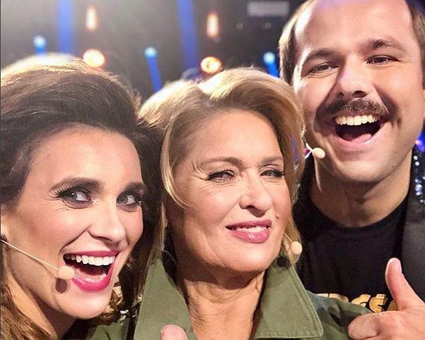 Magdalena 'Kajra' Kajrowicz, Ewa Kasprzak i Sławomir w programie 'Big Music Quiz'