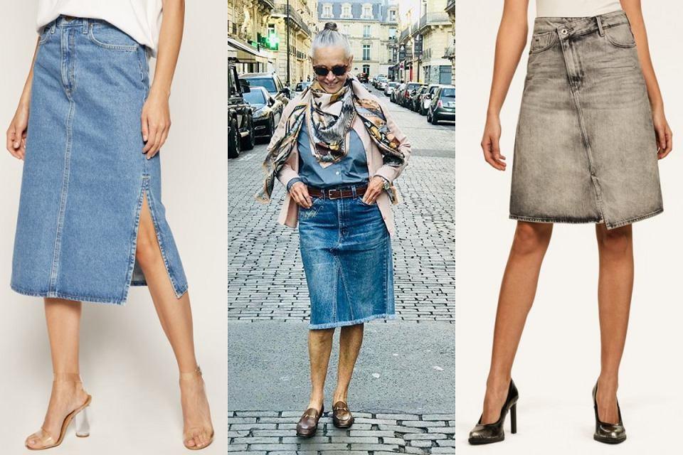 Spódnice jeansowe z wysokim stanem