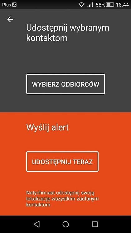 aplikacja Zaufane kontakty