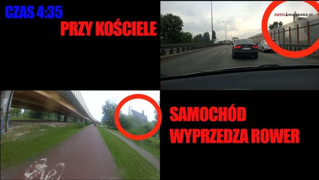 Stoję w korku przed światłami na skrzyżowaniu Wału Miedzeszyńskiego i ul. gen. Fieldorfa