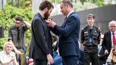 Dawid Wildstein odznaczony przez prezydenta Dudę