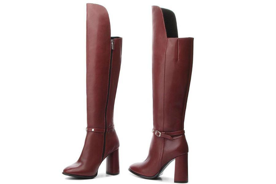 buty zimowe damskie za kolano