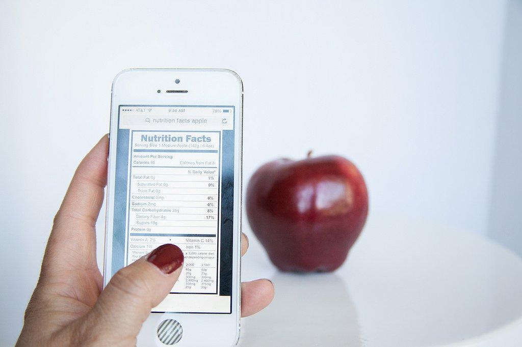 Aplikacja pokazująca kalorie