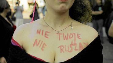 """""""Marsz Puszczalskich"""" w Gdańsku. Uczestnicy i uczestniczki  protestowali przeciwko przyzwoleniu na przemoc seksualną"""