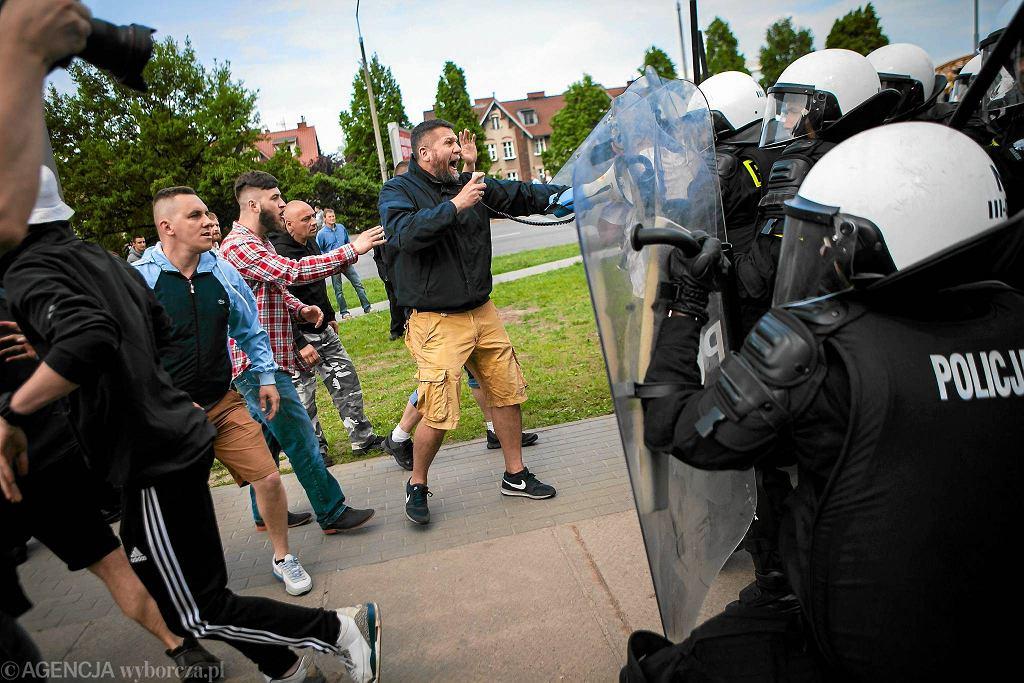 Starcia kontrmanifestacji z policją