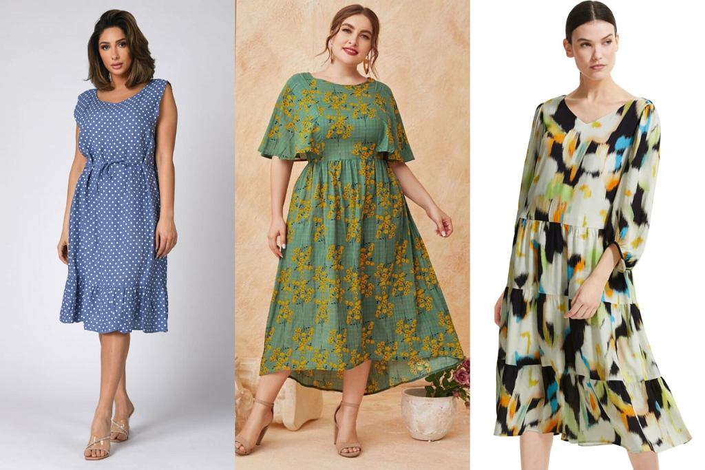 Sukienki dla kobiet z dużym brzuchem