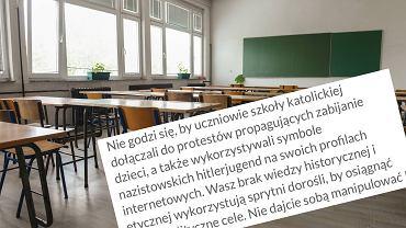 Strajk Kobiet - represje na uczniach