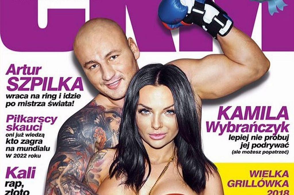 Arur Szpilka i Kamila Wybrańczyk na okładce CKM