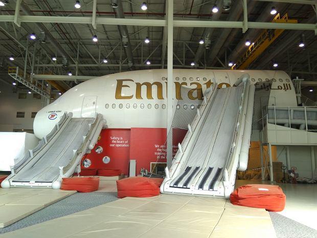 Centrum szkolenia załóg w Dubaju. Na zdjęciu replika samolotu Airbus A380