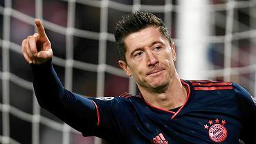 Robert Lewandowski w meczu Crvena Zvezda Belgrad - Bayern Monachium