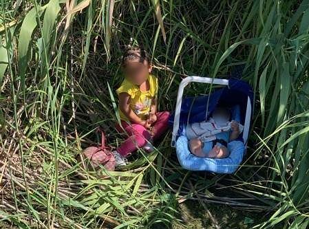 Dzieci odnalezione przez amerykańską straż graniczną