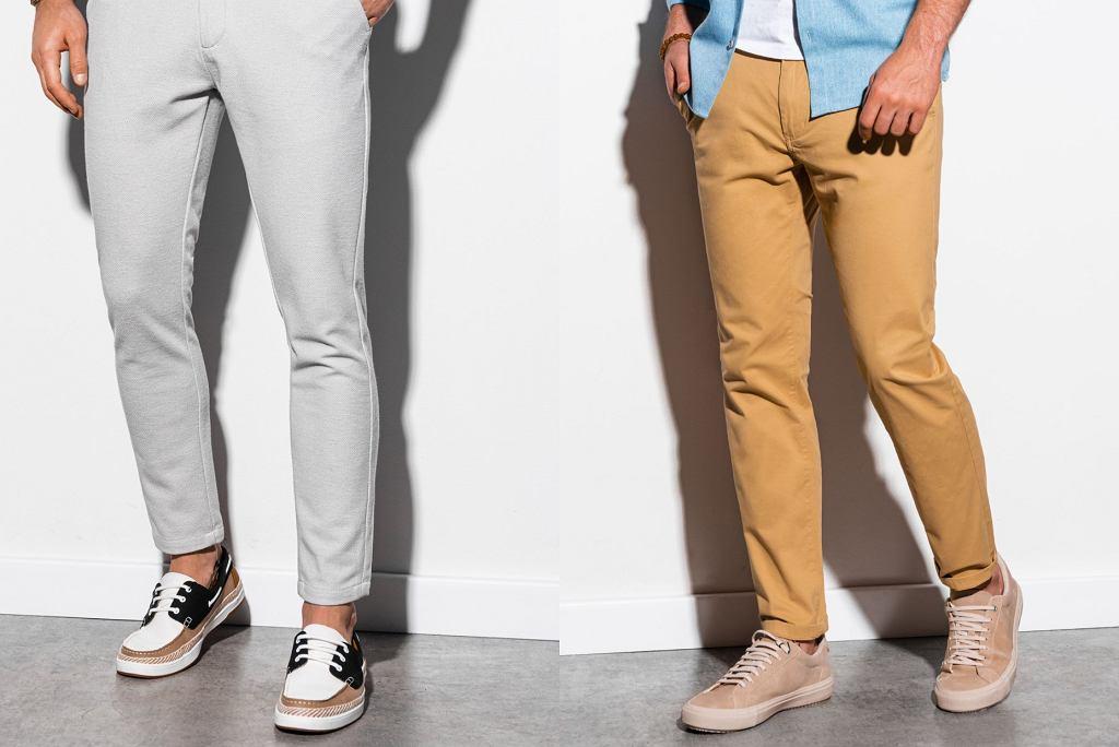 jasne spodnie chino