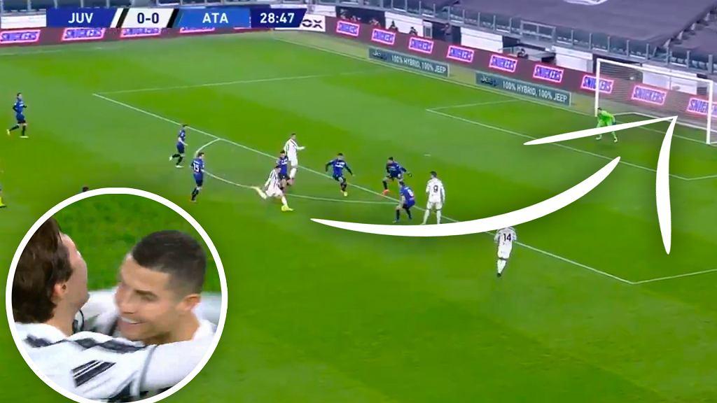 Gol Federico Chiesy w meczu Juventus - Atalanta