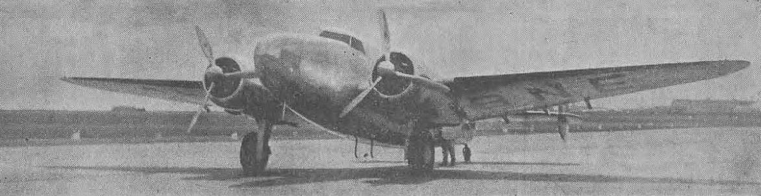 Lockheed 14H 'Super Electra', który rozbił się w Rumunii