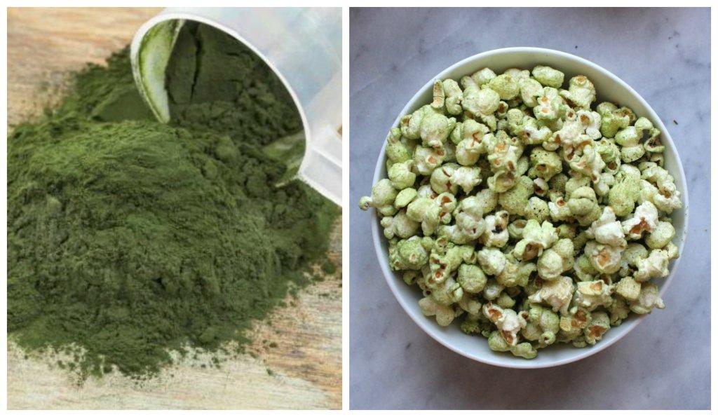 zielony popcorn