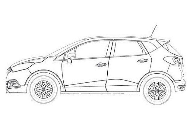 Renault Captur - szkice patentowe