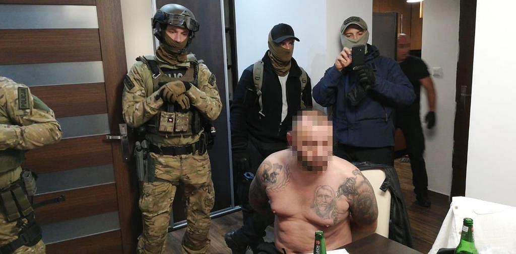 Zatrzymanie Adama S. ps. 'Apacz' przez oficerów CBŚP