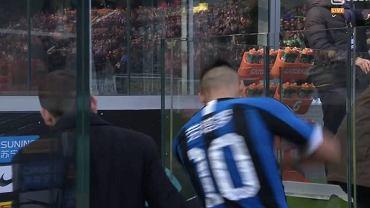 Lautaro Martinez dostał czerwoną kartkę z Cagliari