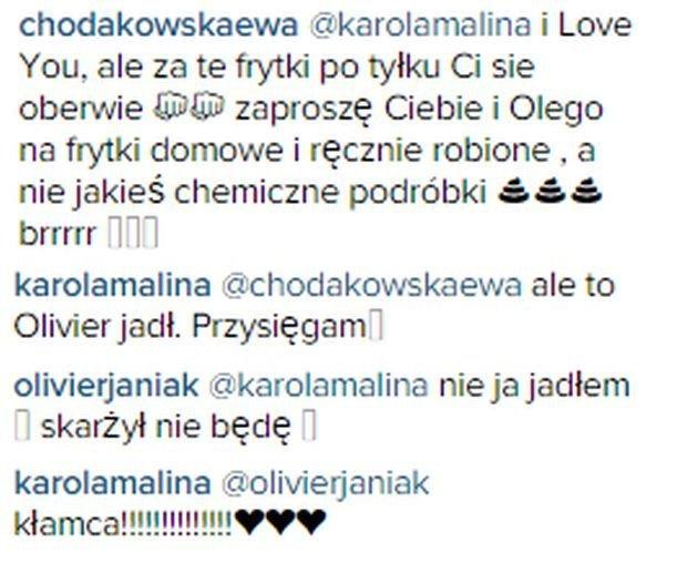 komentarz Ewy Chodakowskiej pod zdjęciem Karoliny Malinowskiej