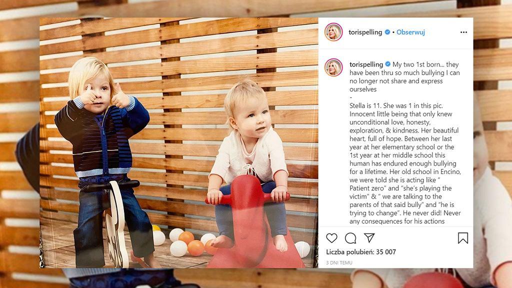 Tori Spelling opowiedziała o trudnych doświadczeniach jej dzieci.