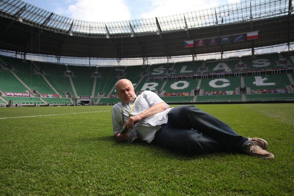 Tomasz Zimoch na stadionie we Wrocławiu, 2012
