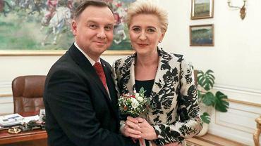 Andrzej Duda z Agatą Dudą