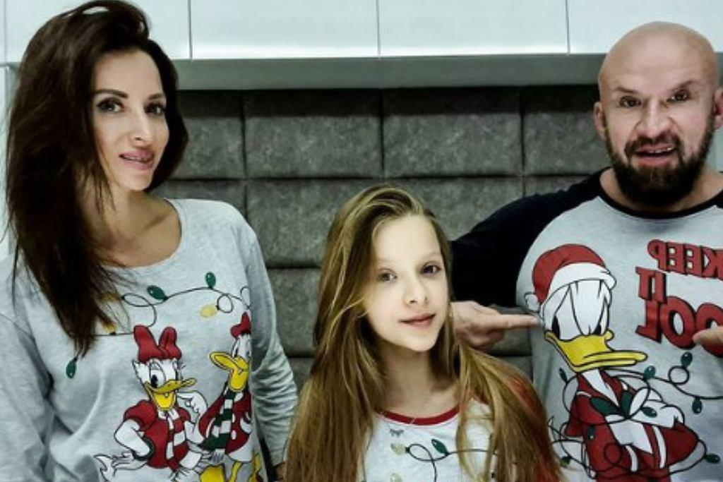Tomasz Oświeciński z rodziną