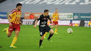 Jakub Bąk w meczu Pogoń Szczecin - Korona Kielce (3:2)