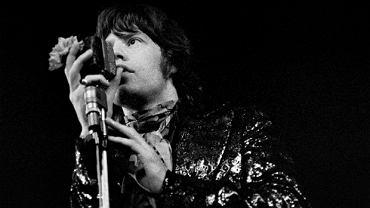 Mick Jagger podczas koncertu w Sali Kongresowej