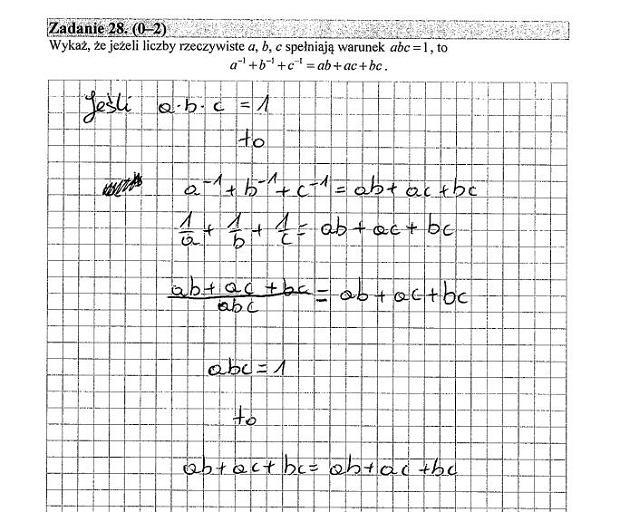 Matura poprawkowa 2016 matematyka, Zad. 28