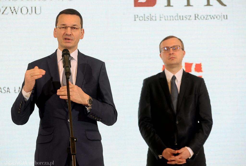 Mateusz Morawiecki i Paweł Borys