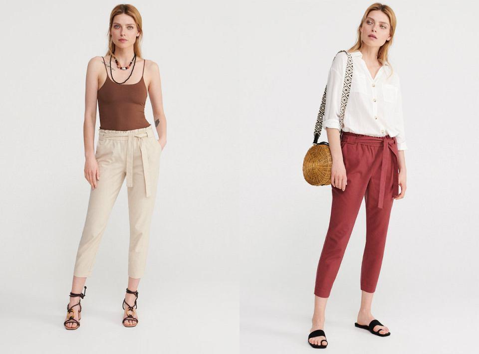 Delikatne i przewiewne spodnie na lato z dodatkiem lnu